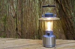 Electric Lantern on a Deck Stock Image