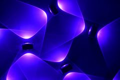 Electric LED light bright dynamic background Royalty Free Stock Photos