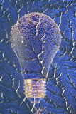 Electric Light Bulb on Blue Pattern Stock Photos