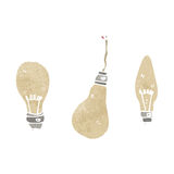 Electric light bulb cartoon Royalty Free Stock Photography