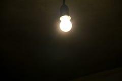 Electric light bulb on dark background Stock Photos