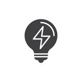 Electric light bulb icon vector, filled flat sign. Solid pictogram isolated on white. Symbol, logo illustration. Pixel perfect vector graphics Royalty Free Stock Images