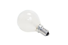 Electric light bulb. Isolated on white background Royalty Free Stock Image