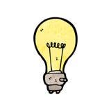 Electric light bulb symbol cartoon Royalty Free Stock Image