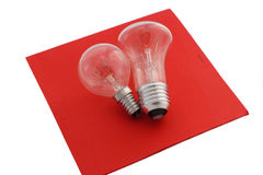 Electric light bulbs Stock Images