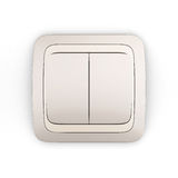 Electric light switch double Royalty Free Stock Images