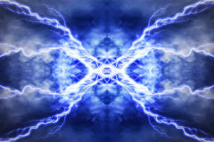 Electric lighting effect, abstract techno backgrounds Stock Images