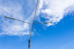 Electric lighting system tower Stock Photo