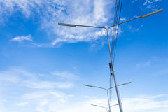 Electric lighting system tower Royalty Free Stock Photography
