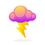 Electric lightning bolt with cloud Royalty Free Stock Images