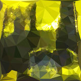 Electric Lime Yellow Abstract Low Polygon Background Stock Photo