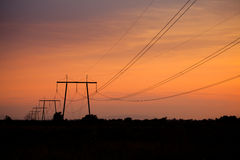 Electric line Stock Photography