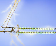 Electric line against the blue sky. High-voltage electrical insulator electric line against the blue sky Royalty Free Stock Image