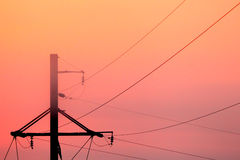Electric line Royalty Free Stock Image