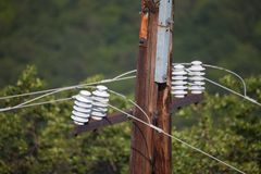 Electric lines Stock Photography