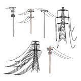 Electric lines Royalty Free Stock Photo