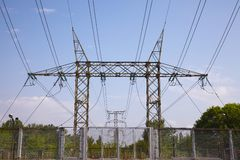 Electric lines Stock Image