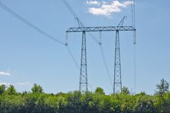 Electric lines Royalty Free Stock Images