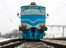Electric locomotive. Passenger train. Electric locomotive. Ukrainian railways Royalty Free Stock Photos