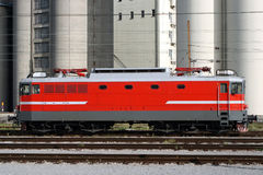 Electric Locomotive. A common locomotive of the Slovenian Railroad Company without any visible logos Royalty Free Stock Photo