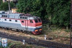 Electric locomotive CH7 Stock Photos