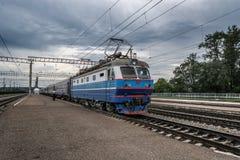 Electric locomotive CHS2K Royalty Free Stock Photos