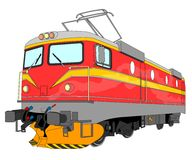 Electric locomotive illustration Stock Photos