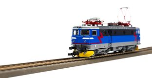 Electric locomotive isolated stock image