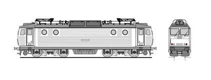 Electric locomotive plan Stock Photo