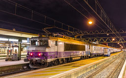 Electric locomotive with a regional train Royalty Free Stock Photography
