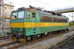 Electric locomotive. For shunting track Stock Images