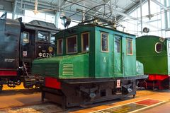 Electric locomotive of times of the USSR. Russia. Saint-Petersburg. Museum Railways of Russia December 21, 2017. royalty free stock images