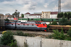 Electric locomotives in depot Royalty Free Stock Photography