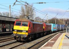 Free Electric Locomotives With Freight Train, Lancaster Stock Image - 67540151