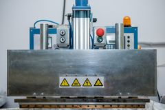 Electric machine. For production of stretch ceilings close-up royalty free stock image