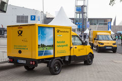 Electric mail delivery vehicle Royalty Free Stock Images