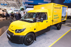 Electric mail delivery vehicle Stock Photos