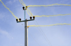 Electric main energised. Stock Photography