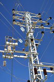 Electric mast. Royalty Free Stock Images