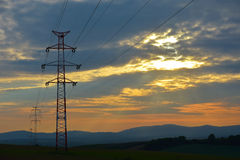 Electric mast Royalty Free Stock Images