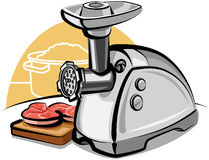 Electric meat grinder Royalty Free Stock Images