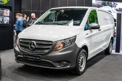 Electric Mercedes eVito, EV produced by Mercedes Benz, Third generation, W447, light commercial vehicle as cargo van, stock photo