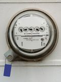 Electric meter. A shot of an electric meter Royalty Free Stock Photos