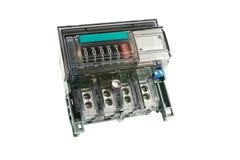 Electric meter. Electric meter electromechanical isolated on white background Royalty Free Stock Photo