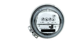 Electric meter. Closeup of an electric meter and dials Royalty Free Stock Image