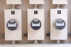 Electric meter royalty free stock photos