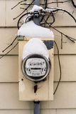 Electric meter box. In winter Stock Images
