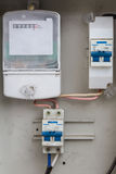 Electric meter box Royalty Free Stock Images