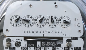 Electric Meter Close Up Royalty Free Stock Image