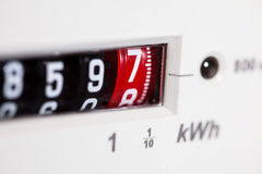 Electric meter close-up Royalty Free Stock Photography